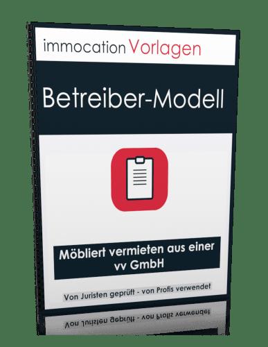 """immocation Vorlage - Mietvertrag: """"Betreibermodell"""""""